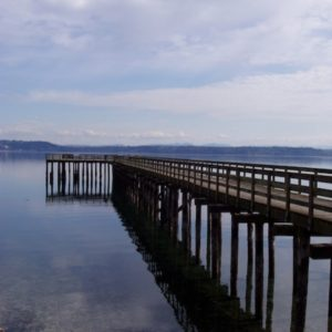 Tramp Harbor Dock on Vashon Island Washington